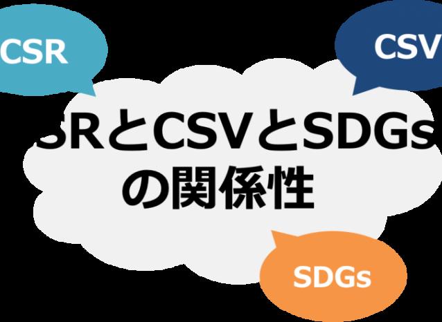 CSRとCSVとSDGsの関係性
